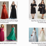 Plus Size Dresses for Special Occasions, Some Trends