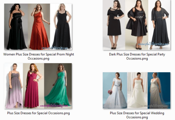 Best Trendy 2013 Plus Size Dresses for Special Occasions Image