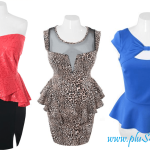 2013 Plus Size Club Dresses With Cute Peplum Design