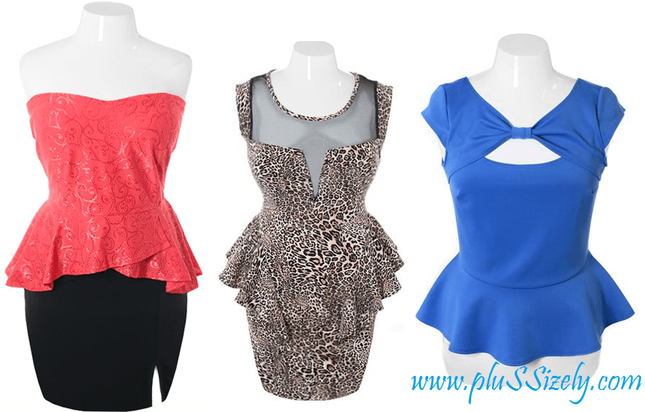Best Variant 2013 Plus Size Club Dresses With Cute Peplum Design Image