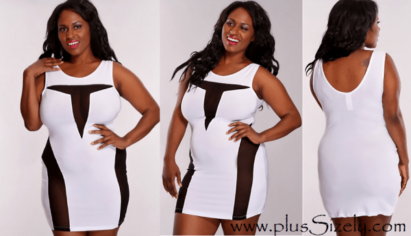 Big Women White Plus Size Club Dresses Image