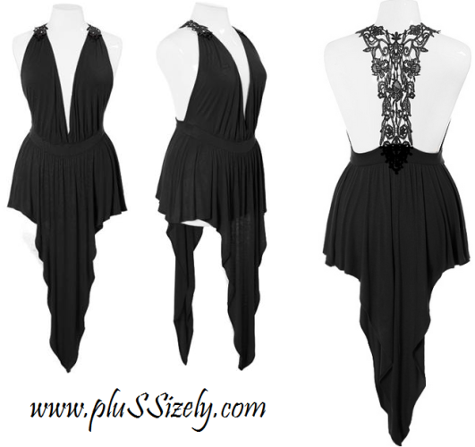 Black Lace Plus Size Club Dresses 2013 Image