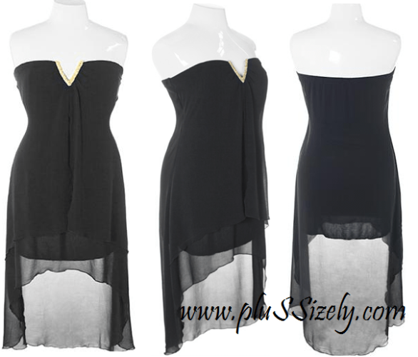 Black Plus Size Club Dresses 2013 Image
