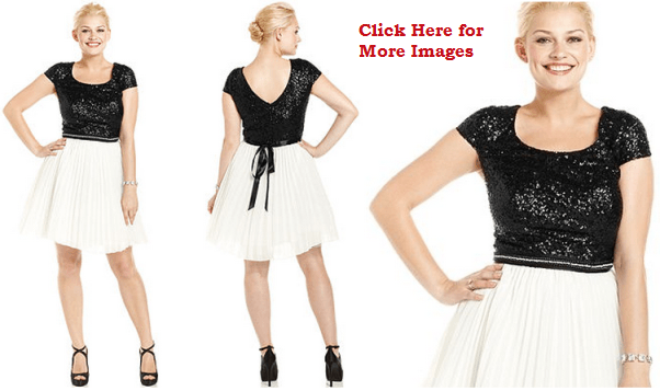 Junior Plus Size Club Dresses Black and white cute junior club ...
