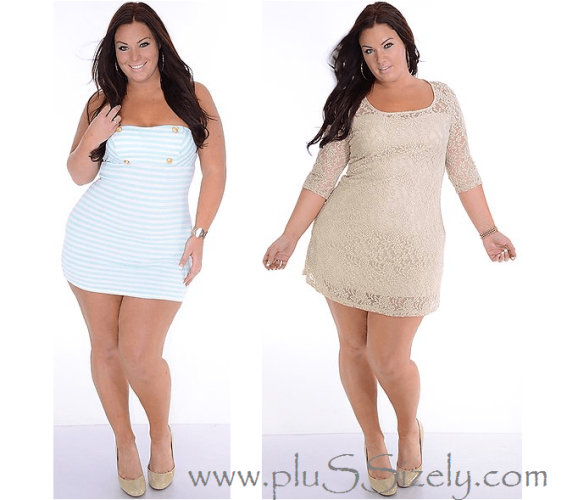Cheap Price White Plus Size Club Dresses Image
