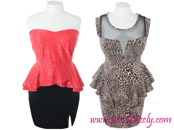 Cheap Trendy Plus Size Club Dresses Peplum Design 2013 Image