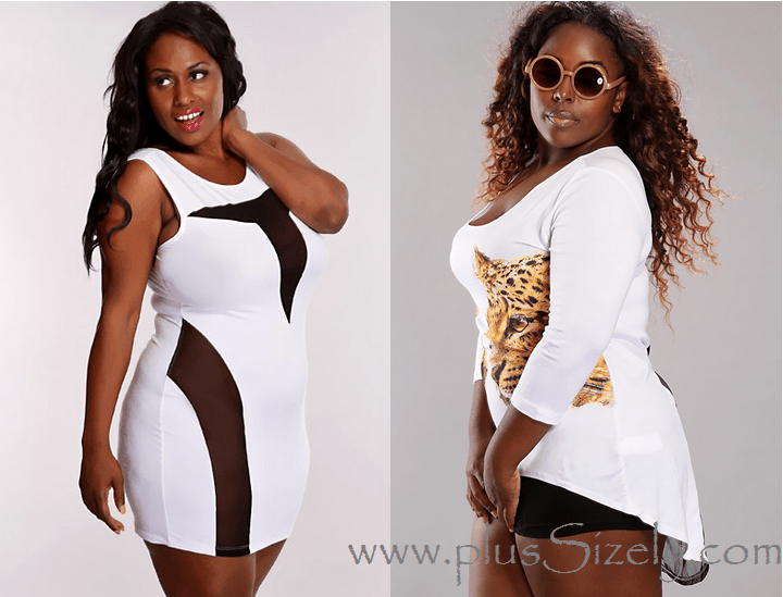 White Plus Size Club Dresses  www.PlusSizely.com