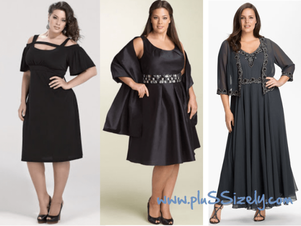 Dark Plus Size Dresses for Special Party Occasions Image