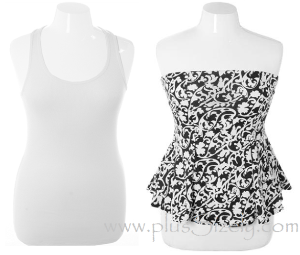 Formal and non Formal Plus Size White Clubwear Image