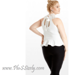 Plus Size White Lace Peplum Dress in Many Designs