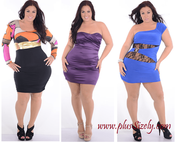 Variant Sleeve Plus Size Nightclub Dresses Image