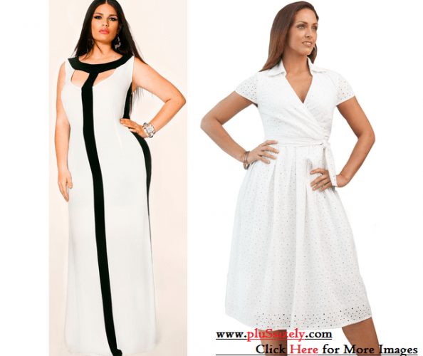 All White Plus Size Dresses Image