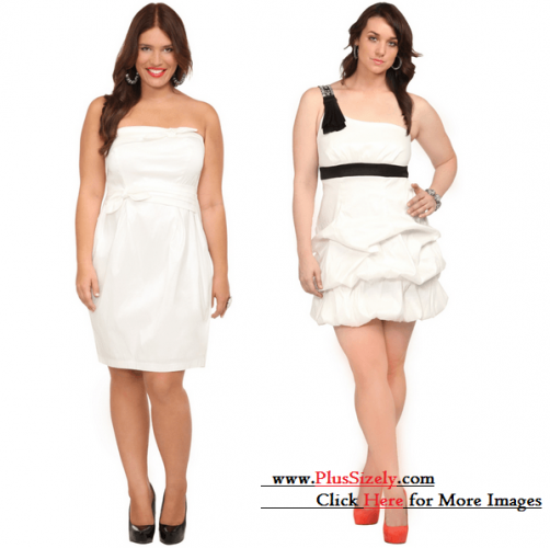 Beauty 2013 Plus Size White Party Dress Image
