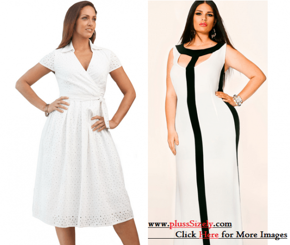 Best Deal Online All White Plus Size Dresses Image