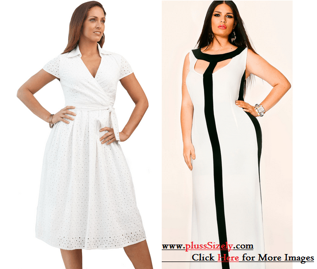 All White Plus Size Dresses Will Look So Shimmering And Fresh Best
