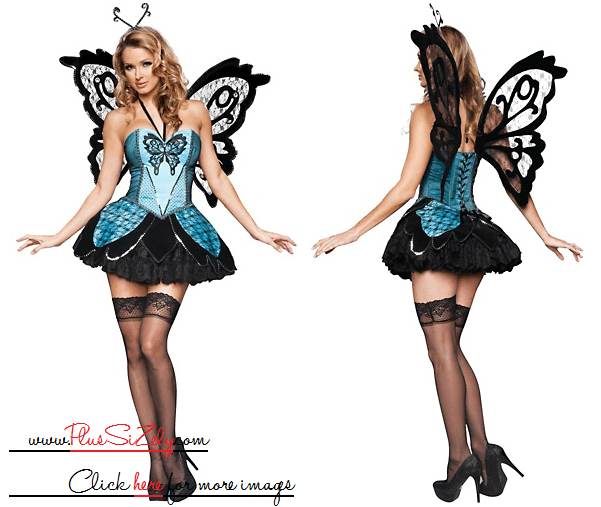 Black Dark Halloween Costumes For Women Image