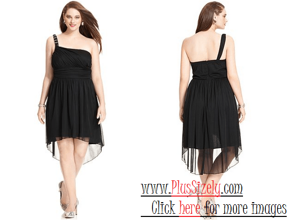 Black Elegant Juniors Plus Size Dresses Image