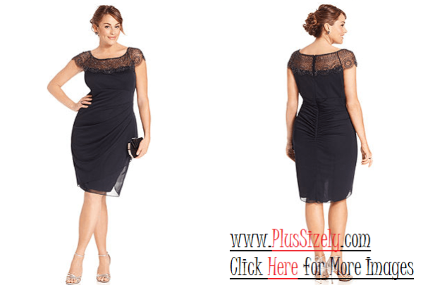 Black Plus Size Evening Dresses Image
