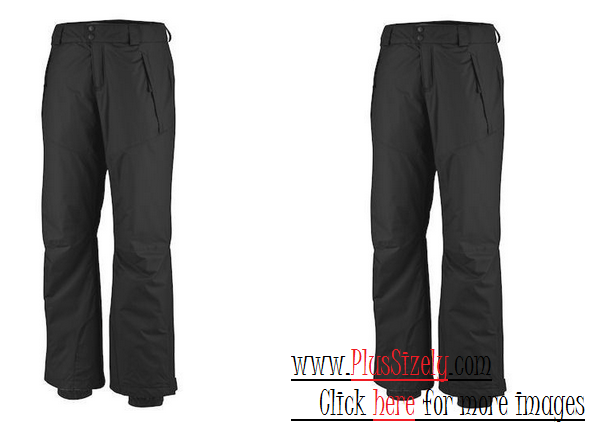 Black Plus Size Ski Pants Image