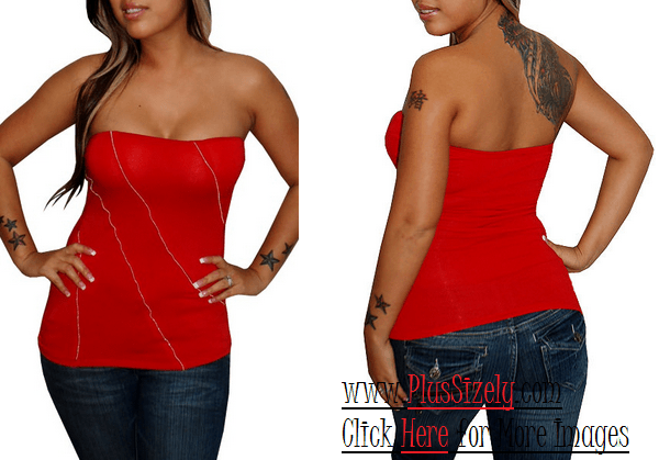 Black Women Plus Size Evening Tops Image