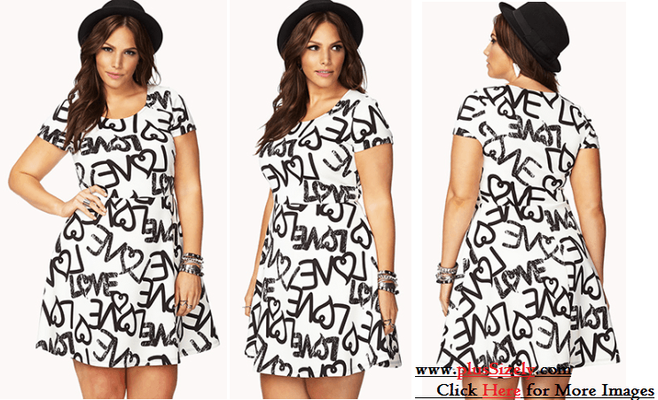 Plus Size White Party Dresses Simple And Attractive Black And White