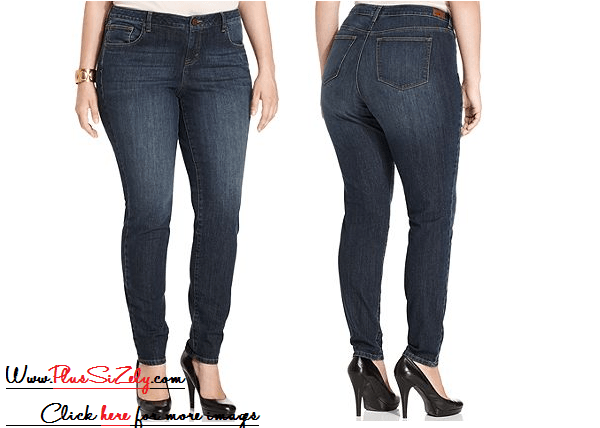 Blue Plus Size Jeans For Women Image