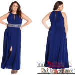 Blue Style Plus Size Evening Wear Image