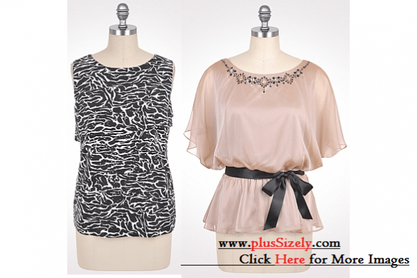 Cheap Plus Size Dressy Tops Image