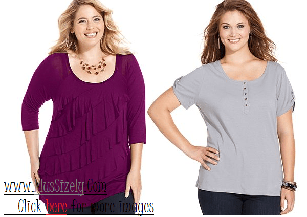 Cheap Plus Size Tops For Women Image