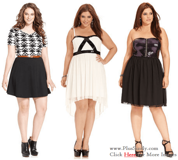 Junior Plus Size Clubwear Dresses Cute Trend Junior Plus Size
