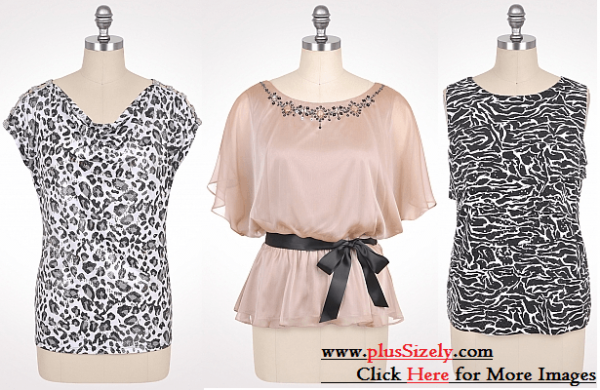 Cute Trend Plus Size Dressy Tops Image