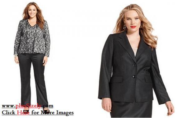 Elegant Plus Size Womens Suits Image
