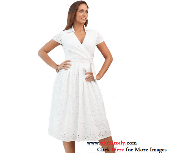 Full All White Plus Size Dresses Image