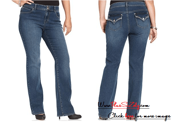 Ideal Design Plus Size Jeans For Women Image