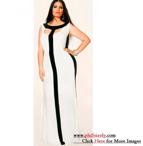 Long Clothes All White Plus Size Dresses Image