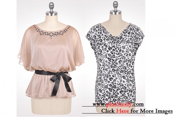 New Designs Plus Size Dressy Tops Image