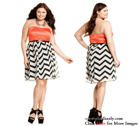 Orange Top Junior Plus Size Clubwear Dresses Image