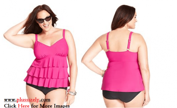 Pink Plus Size Swimsuits For Women Image