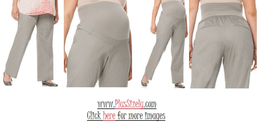 Plus Size Maternity Pants Image