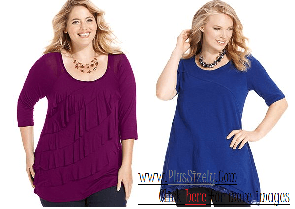 Plus Size Tops For Women Image