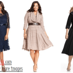 Plus size cocktail dresses with sleeves Image