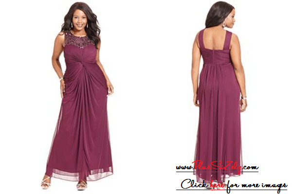Purple Trend Plus Size Dresses For Wedding Guests Image