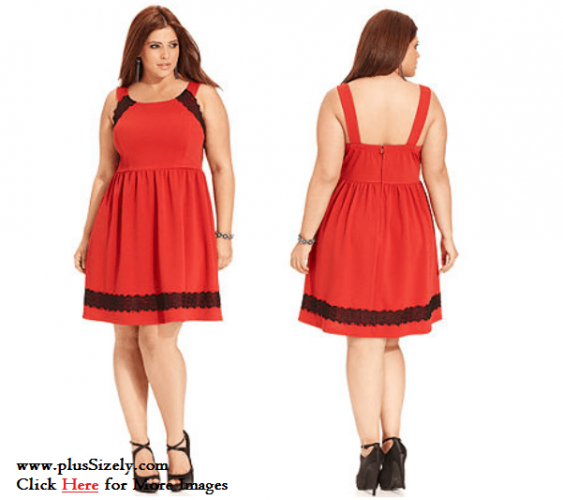 Red Junior Plus Size Clubwear Dresses Image