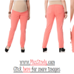Soft Color Plus Size Maternity Pants Image