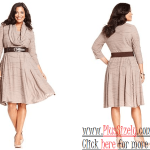 Soft Color Plus size cocktail dresses with sleeves Image