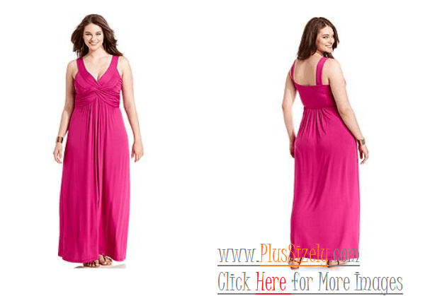 Soft Pink Plus Size Evening Dresses Image