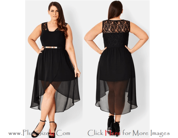 Black Transparent Newest Model of 2013 Eve Dresses for Big and Tall Women Images
