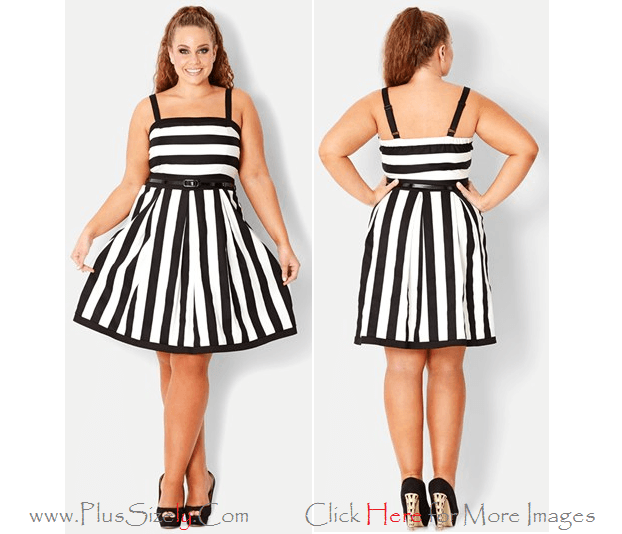 Black White Newest Model of 2013 Eve Dresses for Big and Tall Women Images