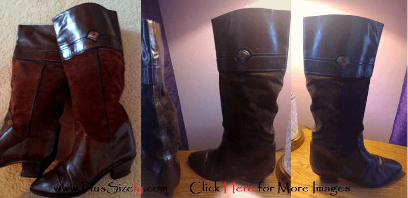 Gucci Plus Size Leather Boots for Women Images