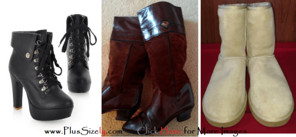 New Design Plus Size Leather Boots for Women Images